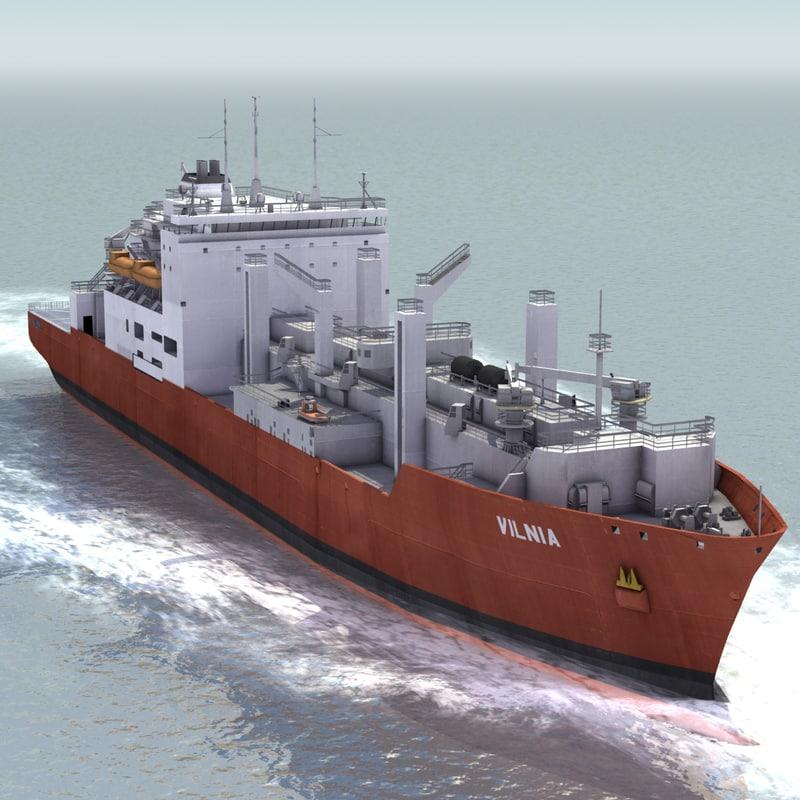 3d model dry cargo ship