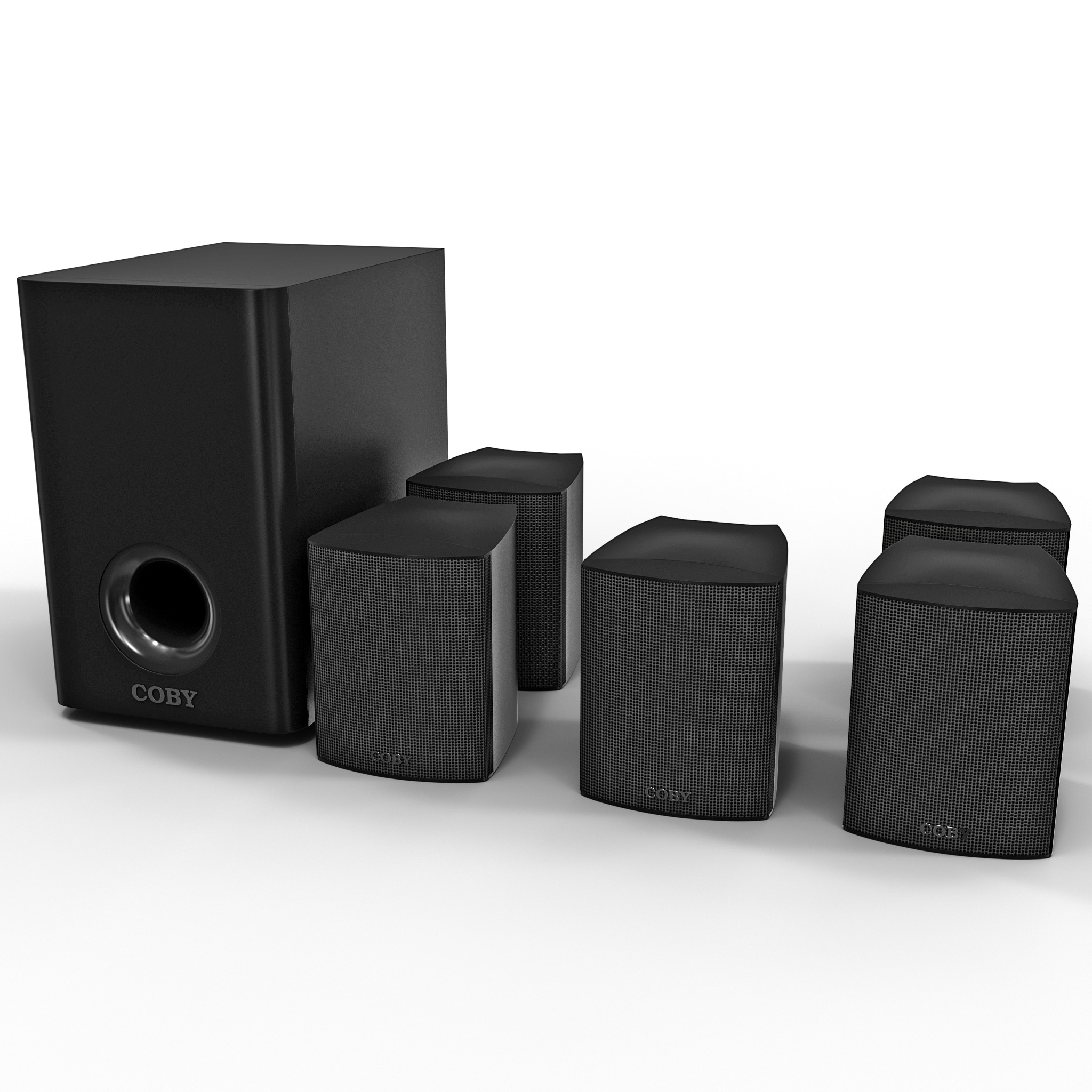 3d model of home theater coby 3