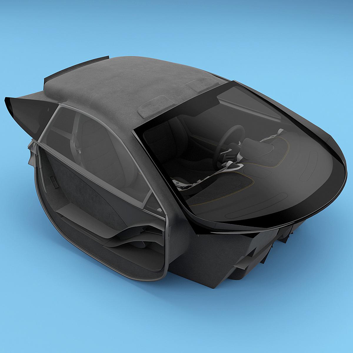 3d mclaren interior model