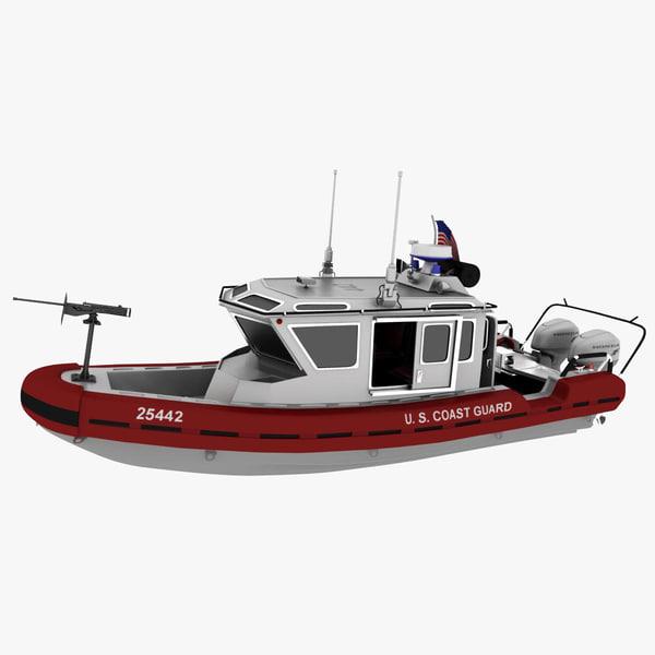3d model coast guard watercraft boat