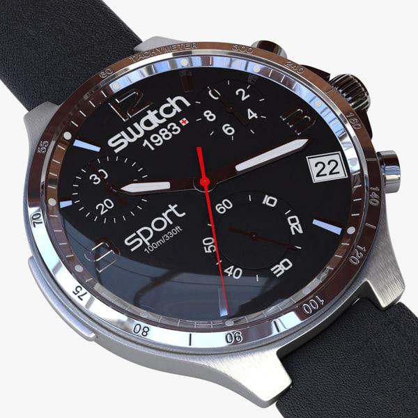 3d swatch watch model