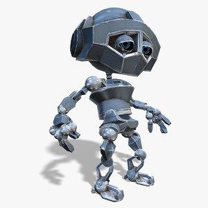 little robot boy 3d max