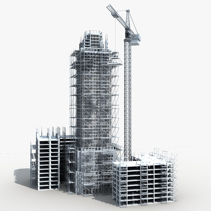 Building construction 5 3d max 3d model sites