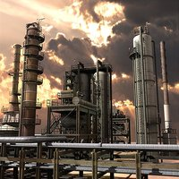 3ds max oil refinery
