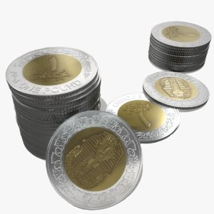 egyptian coin pound 3d max