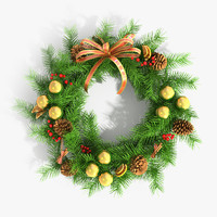 christmas wreath 3d max