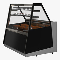 modern patisserie cabinet - 3d max