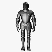 3d model plate armor