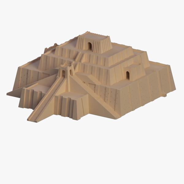 sumerian pyramid ancient 3d lwo