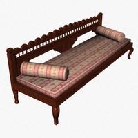 divan sofa 3d dxf