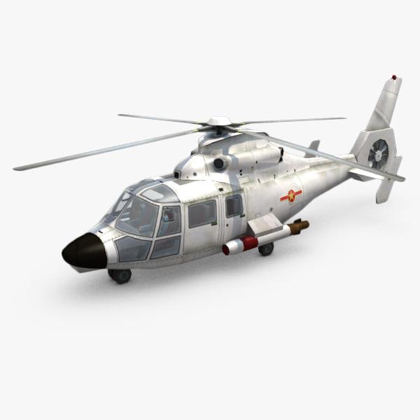 3d obj harbin z-9c helicopters z-9