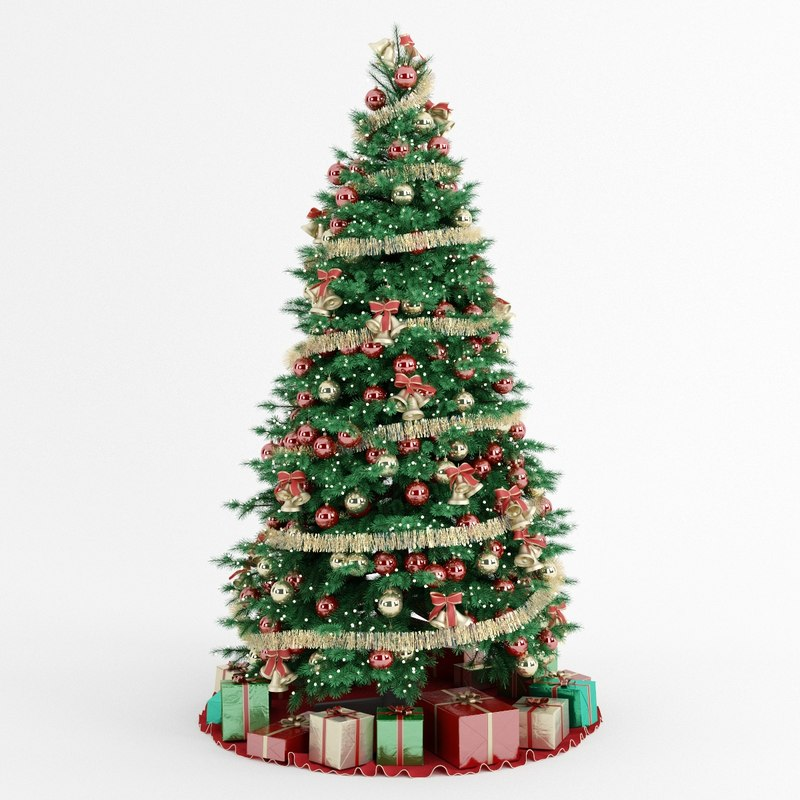 Xmas Tree: Christmas Tree 3d Obj