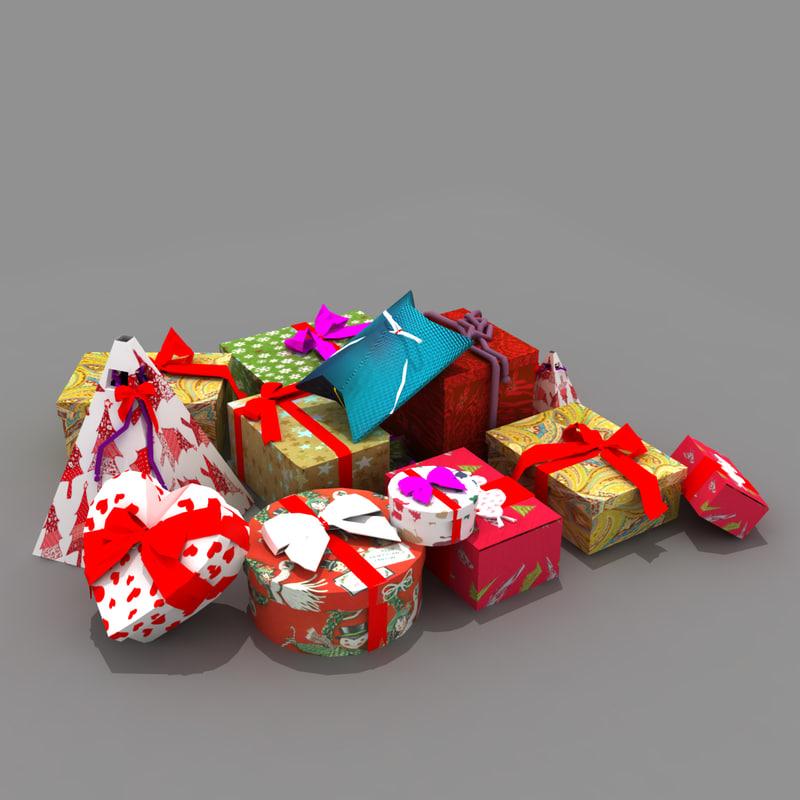 3d max gift present