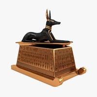anubis jackal sarcophagus 3d max