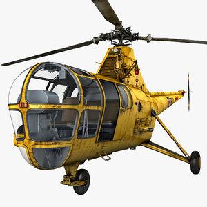 3d sikorsky h-5 2 rigged