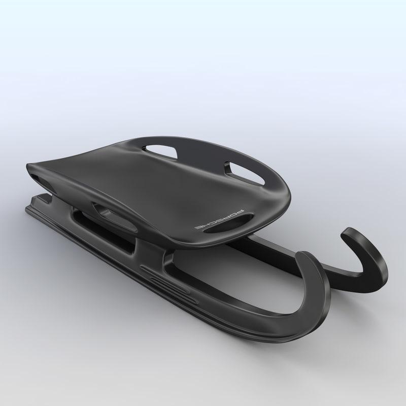 porsche sledge 3d model