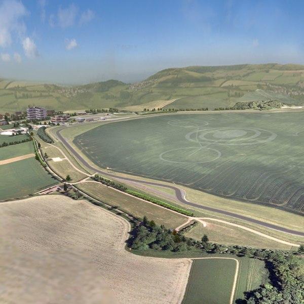 3ds race track terrain