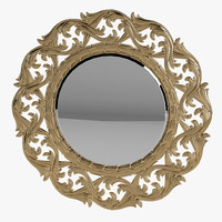 French Round Mirror