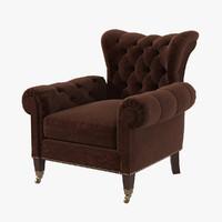 3d ralph lauren chair rl model