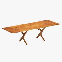 3ds max nakashima table wood