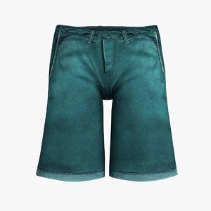 cartos shorts 3d model