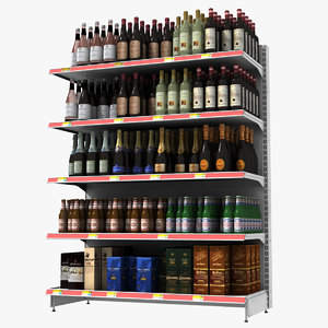 wine shelf 3d model