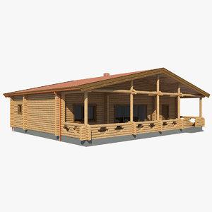 max realistic log house mh