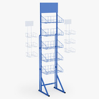 supermarket basket shelfs c4d
