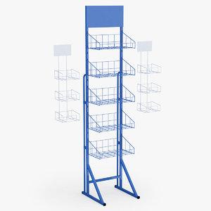 supermarket basket shelfs c4d