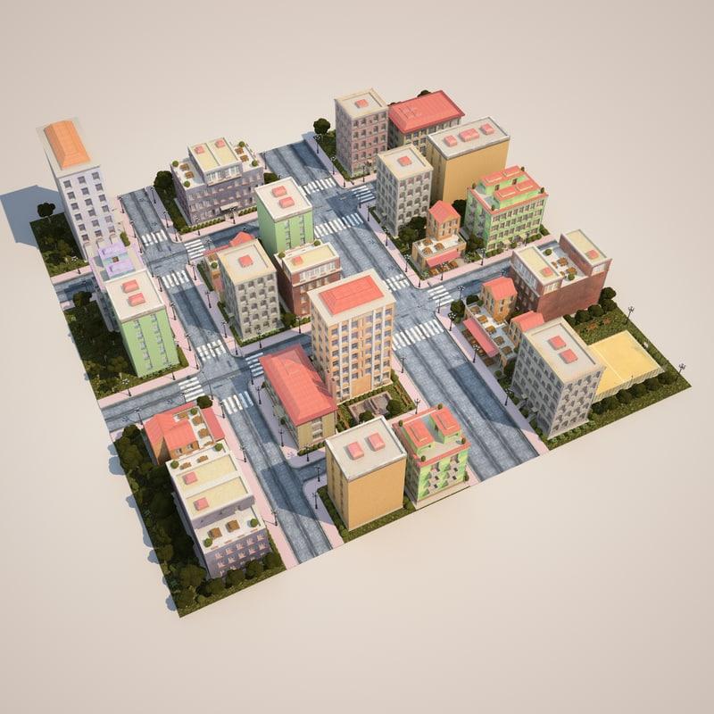 city houses model