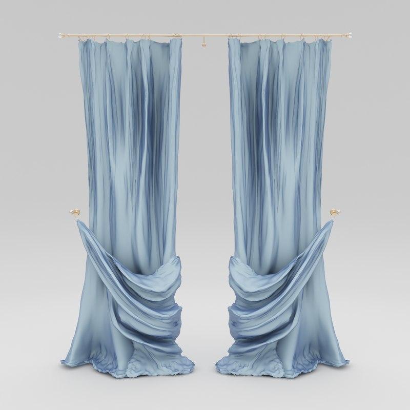 curtains blue garters max