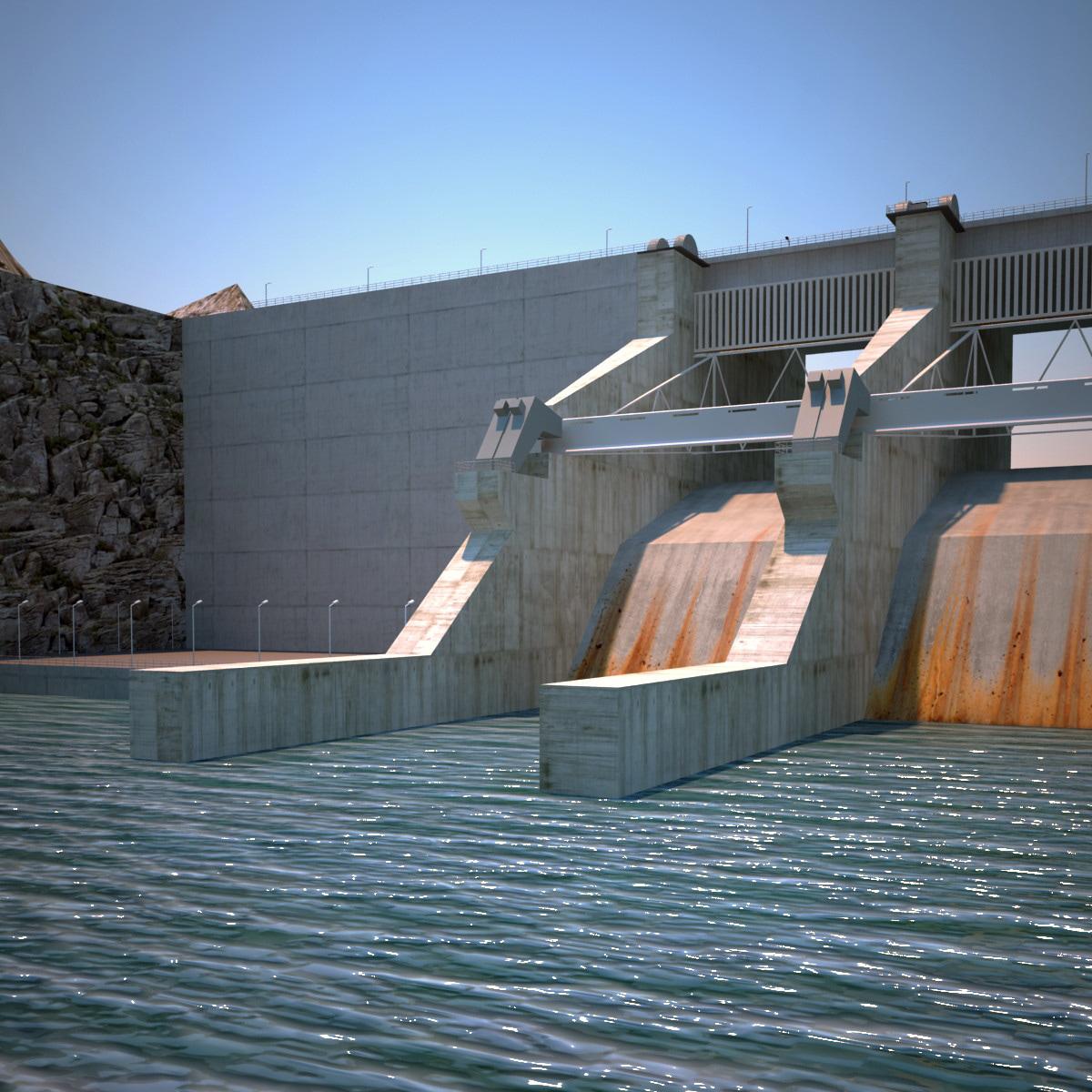 hydroelectric dam v3 3ds