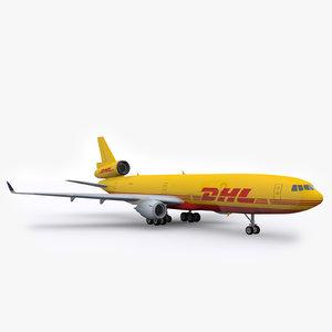 mcdonnell douglas md-11 airliner 3d model