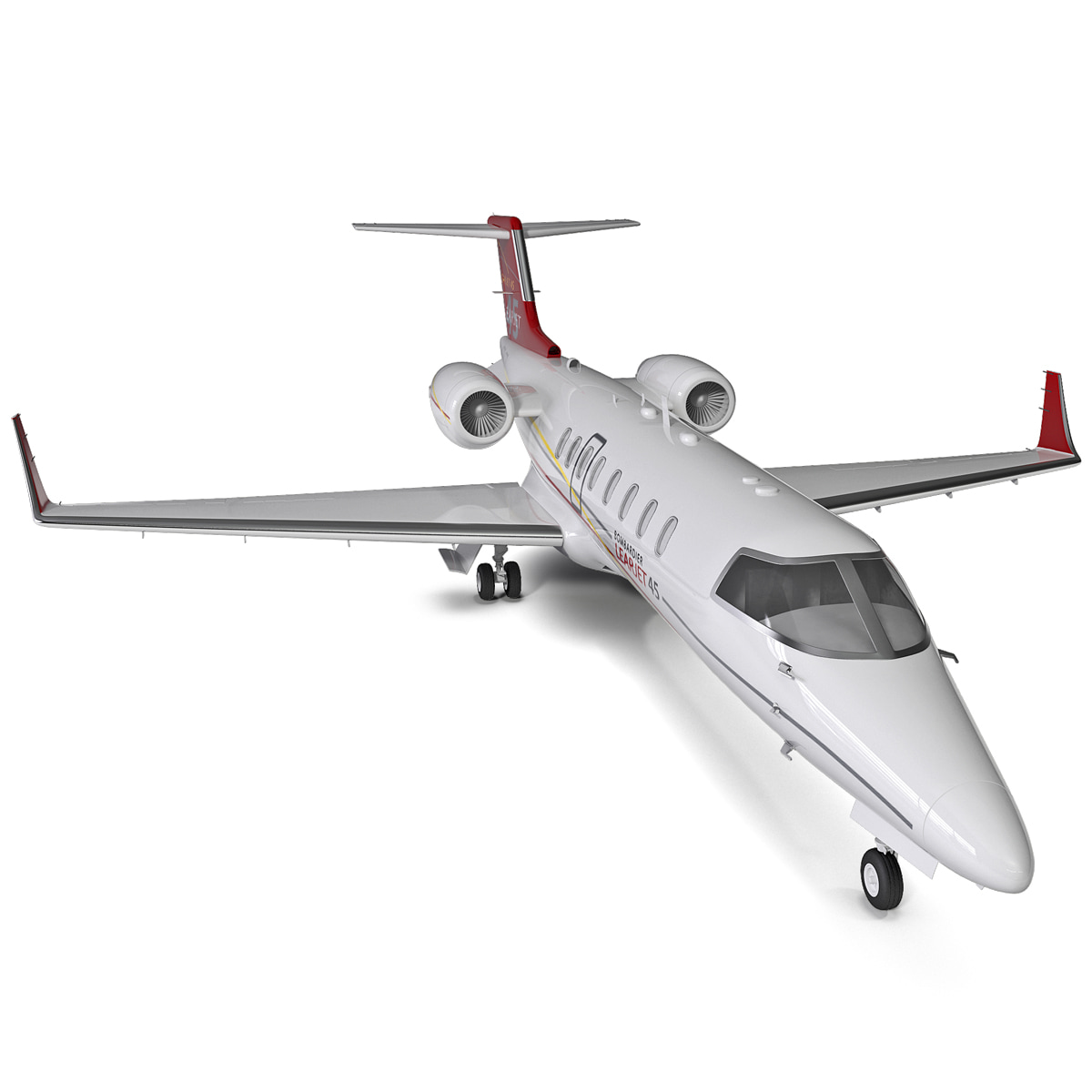 max bombardier learjet 45 rigged