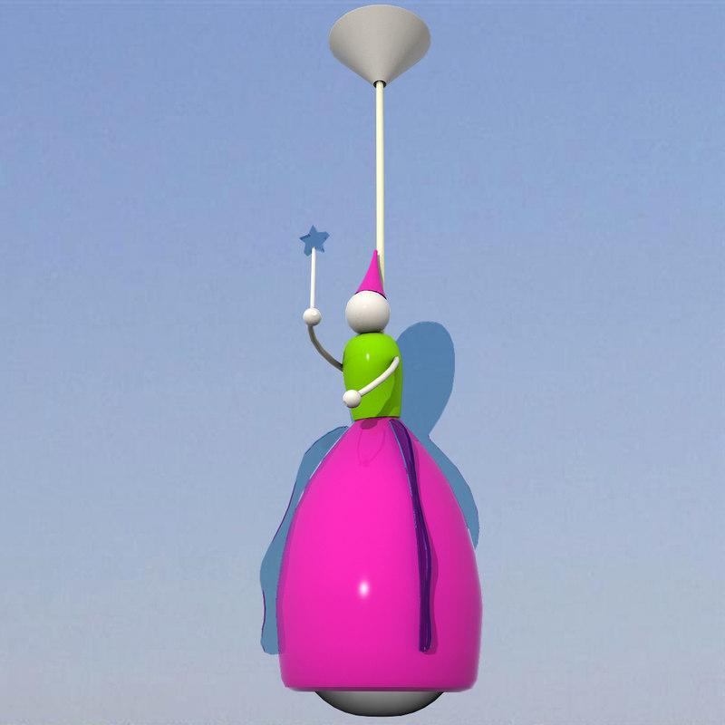 free 3ds model unique fairy lamp