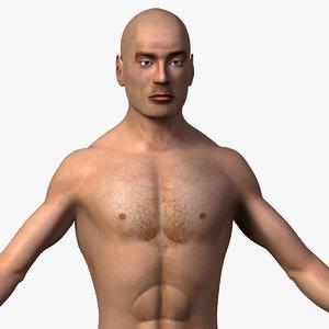 male body 3d 3ds
