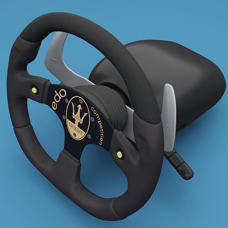 3d maserati steering wheel 2