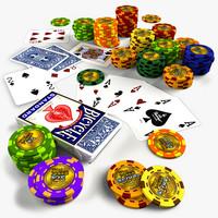 3d model poker