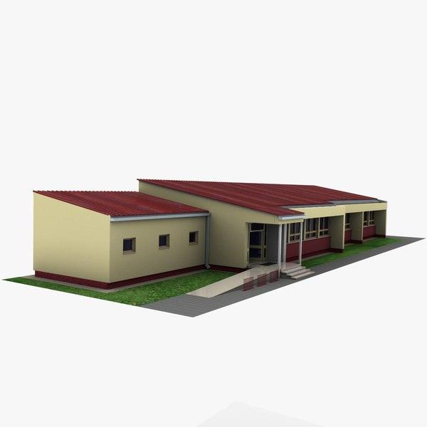 3ds max school building