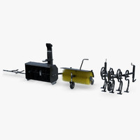 3d model rake sweeper showelirons