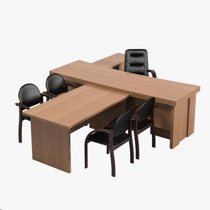 office furniture set 3d max