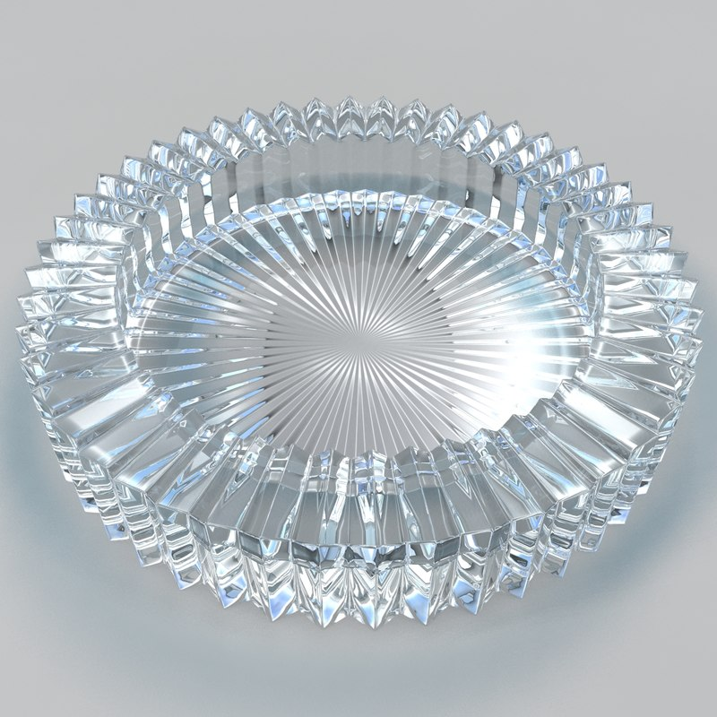3d model of glass ashtray