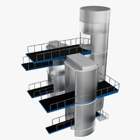 diving tower 3d model