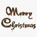 merry christmas sign 3D models
