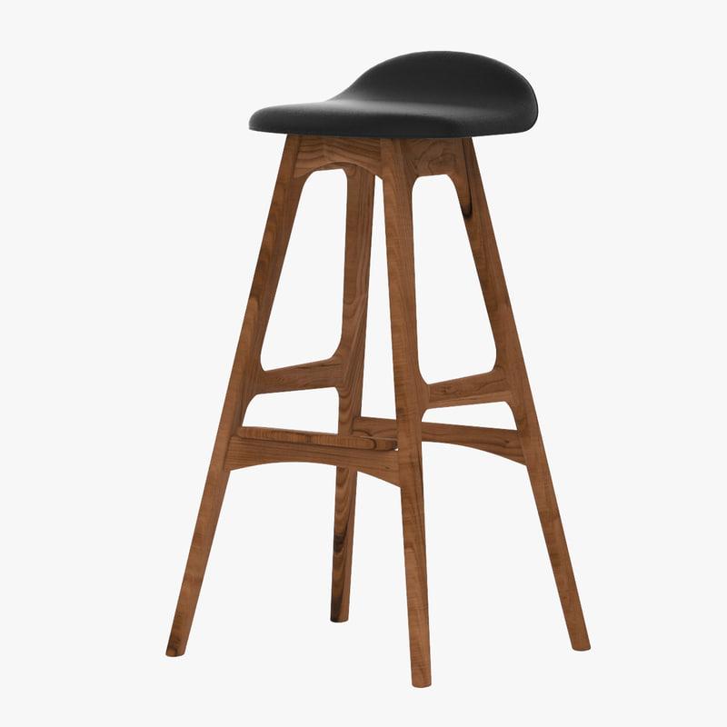 3d erik buck bar stool model