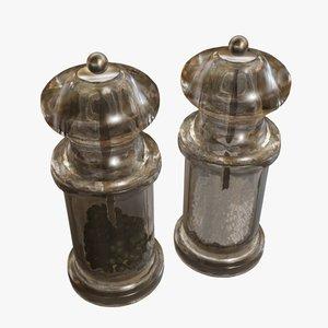 salt pepper mills 3d 3ds