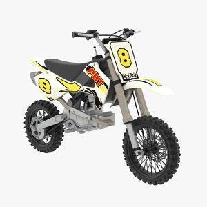 mini moto cross 3d model