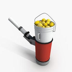 3d tennis ball machine model