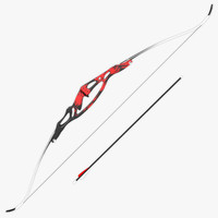 olympic recurve bow 3d model