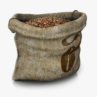 3d sack beans model